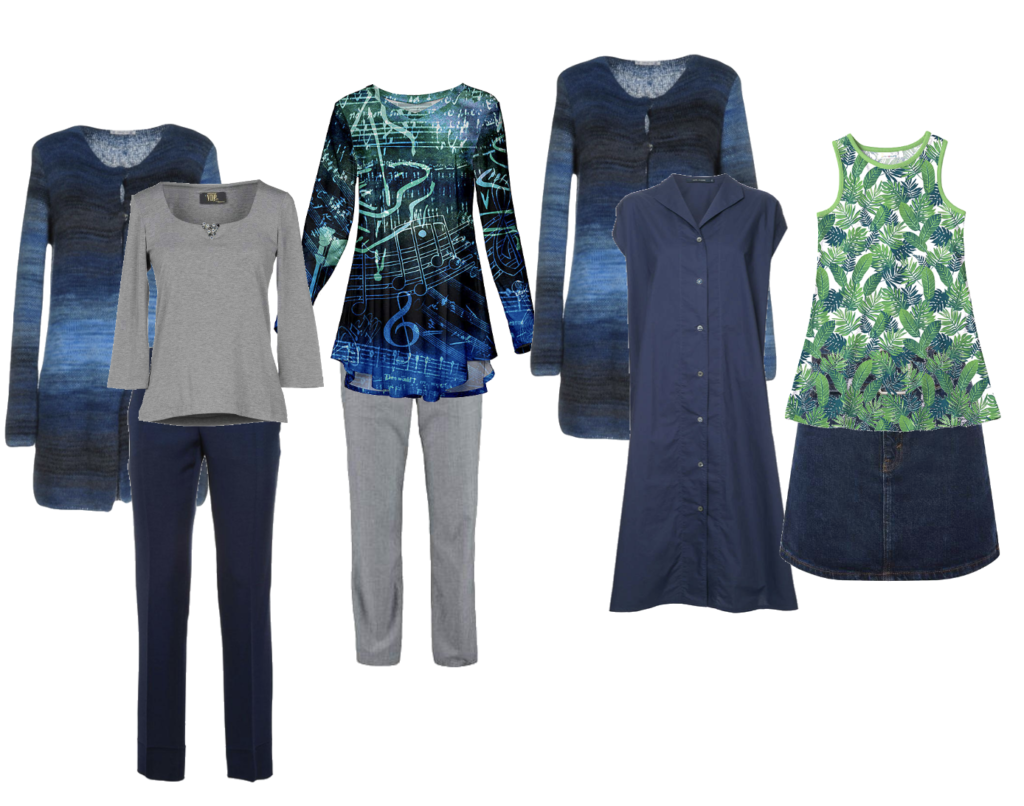 Calm capsule wardrobe expanded