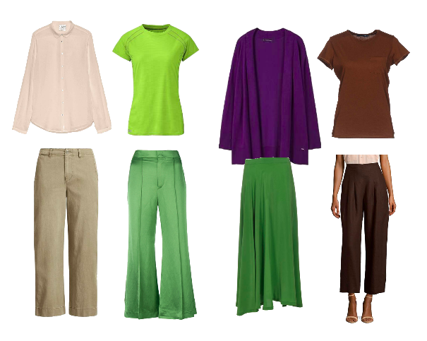 colourful capsule wardrobe