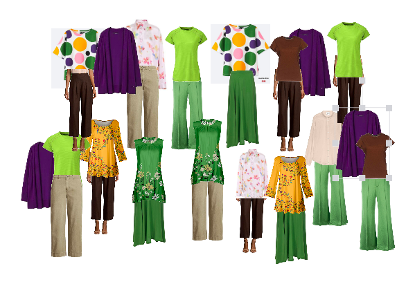 colourful capsule wardrobe