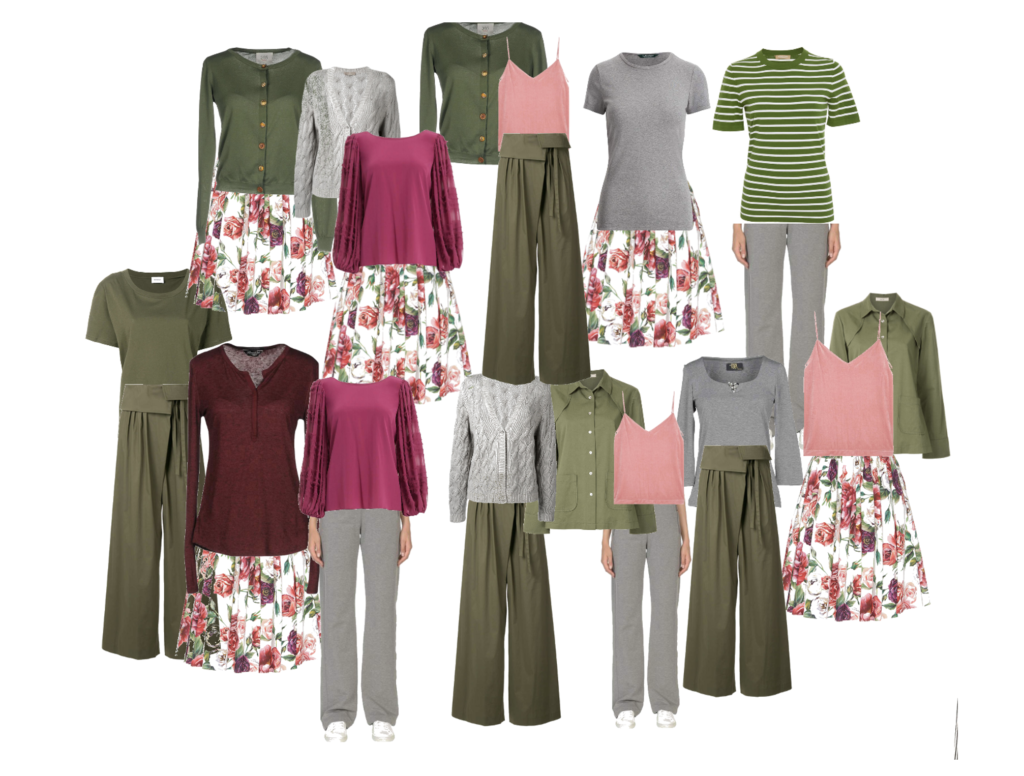 building a capsule wardrobe from a skirt