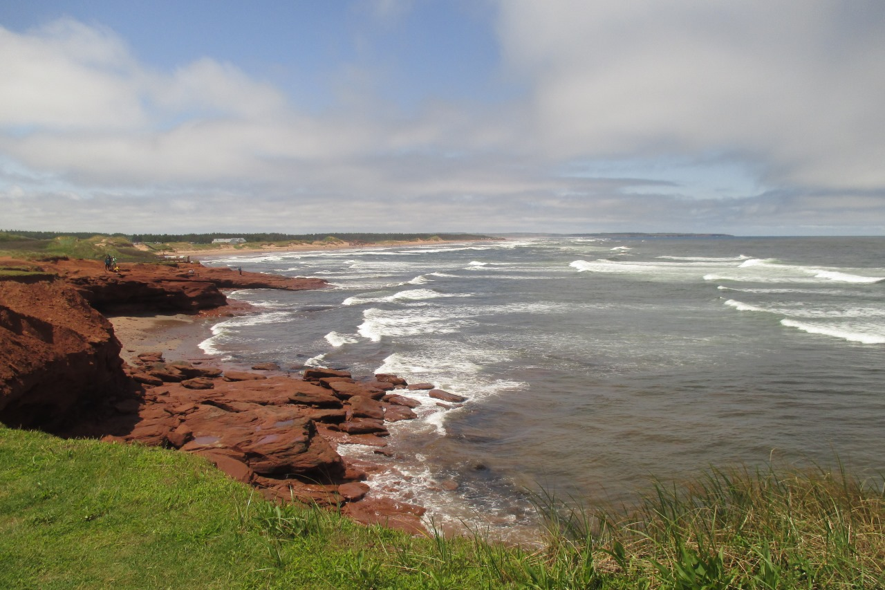 red cliffs of the northern coast of PEI