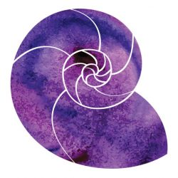 Violet vector design element - isolated watercolor paint circles